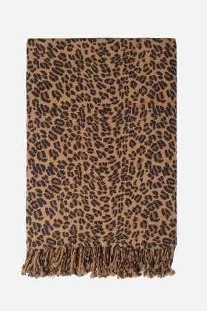 Leopard Printed Cashmere Throw