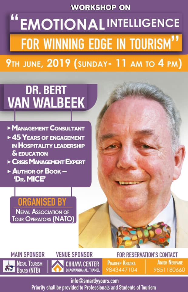 Workshop on Emotional Intelligence for Winning Edge in Tourism by Dr. Bert Van Walbeek
