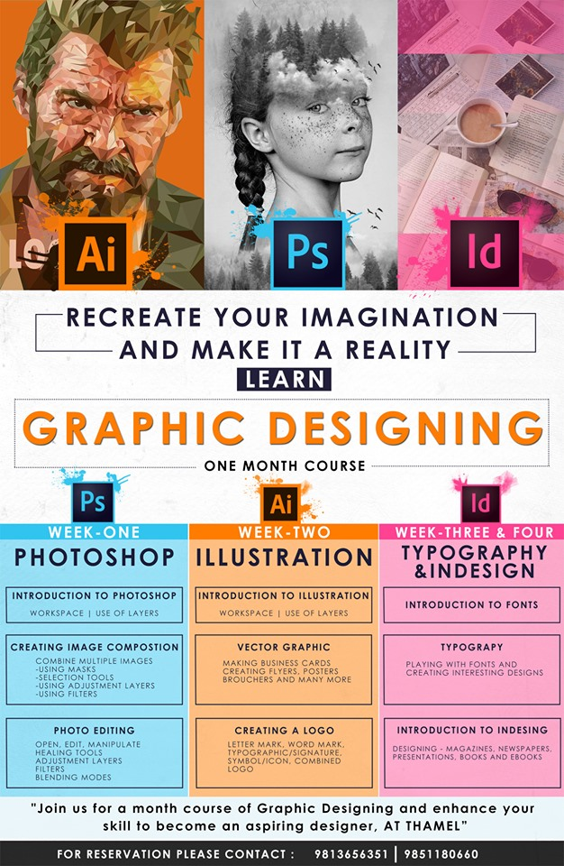 Graphics Designing one month course
