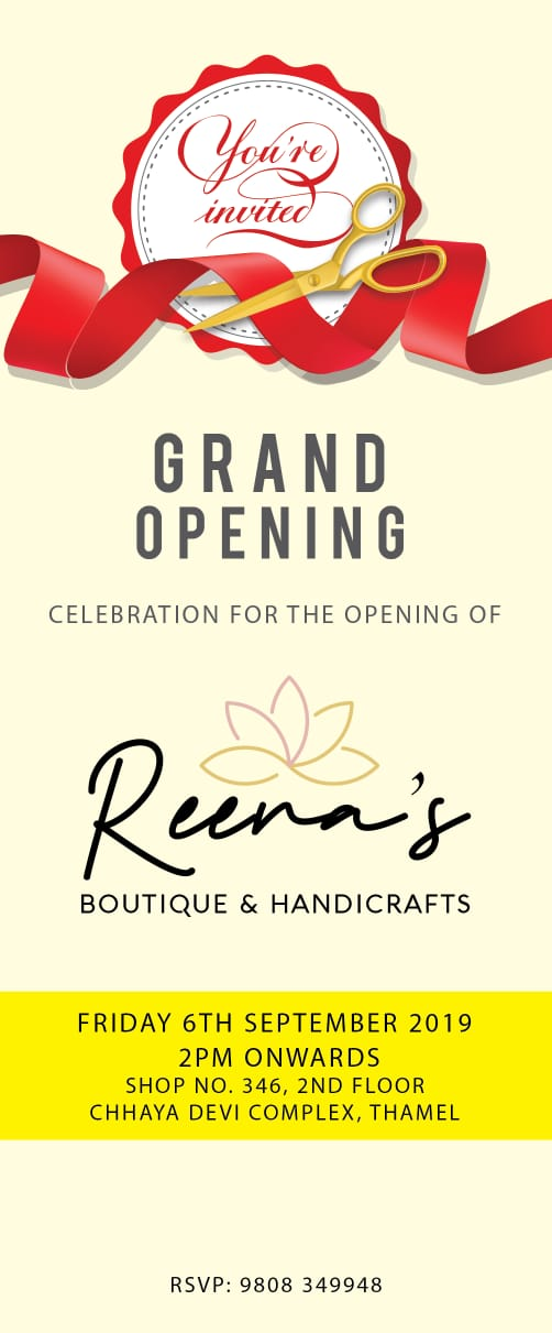 Grand opening of Reena boutique and handicrafts